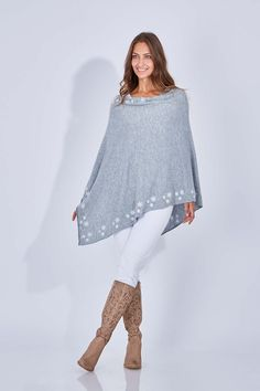d9787d78905f SNOW ANGEL - Perfect Snowflake Poncho Everything But The Girl, Cashmere  Poncho, Snow Angels