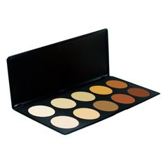 Royal Care Cosmetics 10 Color Professional Camouflage Concealer Palette 10 Color Camouflage and Concealer Palette. Royal Care Cosmetics. All makeup artists will benefit by having this in your beauty arsenal. These are cream concealers that offer terrific coverage. Full opaque coverage, easy to apply with a concealer brush, very blendable to create the shade you need.. #RoyalCareCosmetics #Beauty