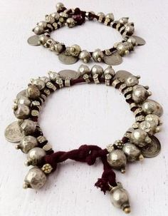 Mouse over image to zoom    PAIR OF ANTIQUE GYPSY COINS TRIBAL BANJARA BEADS KUCHI ETHNIC ANKLET/ BRACELET