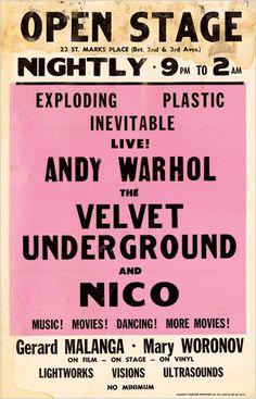 the velvet underground show poster