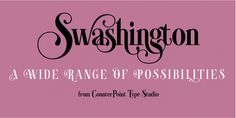 Swashington font download
