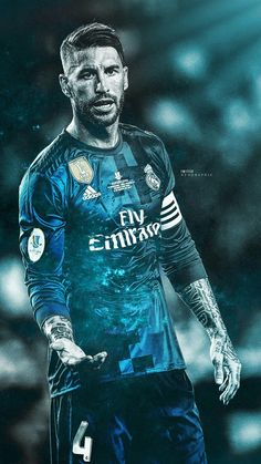 Sergio Ramos #football #realmadrid #art #wallpaper
