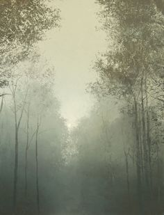 Benoit Trimborn - Regards sur le Paysage, CHEMIN AU BROUILLARD, Oil on canvas
