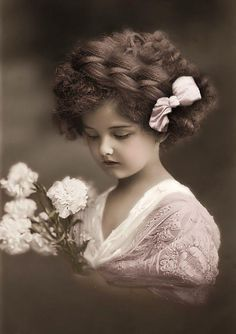 Vintage photo of a beautiful girl.