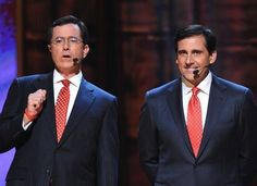 "Steve Carell and Stephen Colbert were the voices for The Ambiguously Gay Duo on ""SNL TV Funhouse"""