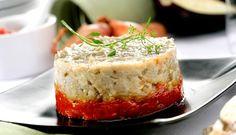 Caviar de berenjenas con chutney de tomate