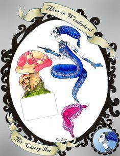 Alice in Wonderland Paper Dolls - The Caterpillar | Flickr - Photo Sharing!