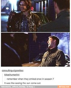 The sad thing is that was practically the ONLY time they smiled in season 7