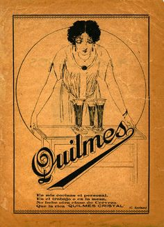 Vintage Ad for Argentina's Beer -Quilmes