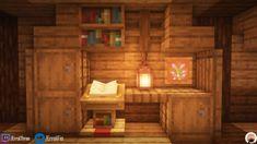 A simple desk design using very survival friendly resources :) - DetailCraft Plans Minecraft, Minecraft Houses Survival, Minecraft Cottage, Easy Minecraft Houses, Minecraft House Tutorials, Minecraft Room, Minecraft House Designs, Minecraft Decorations, Amazing Minecraft