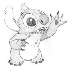 Hi Stitch - Lilo & Stitch Fan Art (27580283) - Fanpop Easy Disney Drawings, Disney Sketches, Cartoon Drawings, Easy Drawings, Art Sketches, Lilo And Stitch Drawings, Drawings For Boyfriend, Disney Canvas Art, Lilo E Stitch