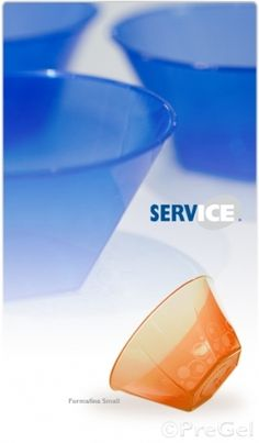 PreGel AMERICA's ServIce® is an exclusive line of serving products for desserts. Included in the line are plastic, styrofoam and metal products to meet all types of supply needs.