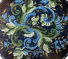 Norwegian rosemaling patterns via mayra gomez