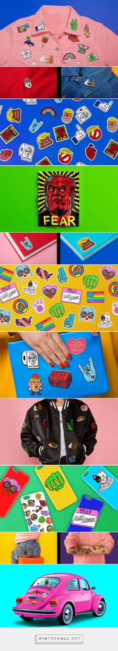 Pins Won't Save The World on Behance... - a grouped images picture - Pin Them All