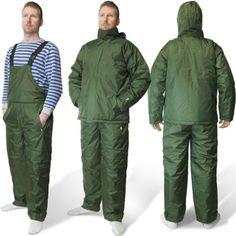 Carp-Fishing-Camping-2-Piece-All-Weather-Thermal-Suit-Green-Bib-amp-Brace-Jacket
