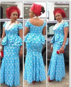 Top Ten Beautiful Aso Ebi Styles For Owambe Party - Dabonke