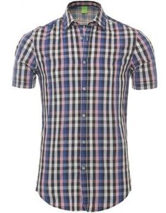 a496c286 Hugo boss. Hugo Boss ManChristmas PlanningCheck ShirtMen CasualGingham Shirt.  Hugo Boss Men's Hugo Bastiano Short Sleeve ...