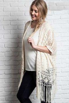 Let Loose Crochet Kimono - Curvy
