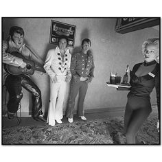 Tom Bartlett and Todd Luxton, Elvis Presley Impersonators,Imperial Palace Hotel, Las Vegas, Nevada, USA, 2004 by Mary Ellen Mark Mary Ellen Mark, Steven Wright, How To Have Twins, Palace Hotel, Double Trouble, Documentary Photography, Elvis Presley, Documentaries, Nevada Usa