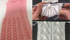 Üst üste duran fıstıklı süpürge motifleri ile süslenen örgü bayan yeleği modeli. Bu yelek modeline bayılacaksınız. Lace Knitting, Fabric Flowers, Fingerless Gloves, Arm Warmers, Bags, Fashion, Long Scarf, Kids Knitting Patterns, Knits