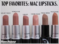 Mac lipsticks into the nude