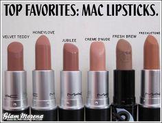 Mac lipsticks into the nude