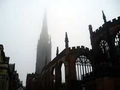 Coventry - Coventry Cathedral Fog 7th February 2005 #Coventry #Cathedral #Fog