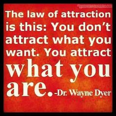 Law of Attraction: For example. If you are a slut, you attract ...