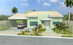fachadas casas pintadas de amarelo-claro - Pesquisa Google