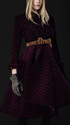 Velvet Quilted Blanket Coat | Burberry