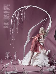 Paper plates for British Vogue. Shona Heath set designer shot by her husband Tim Gutt.