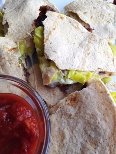 Roast beef quesadillas- my favorite way to use leftover roast beef.