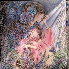 Princess Coloring, Coloring Book Pages, All Anime, Art Boards, Princesses, Color Inspiration, Colored Pencils, Fairy Tales, Book Fairy
