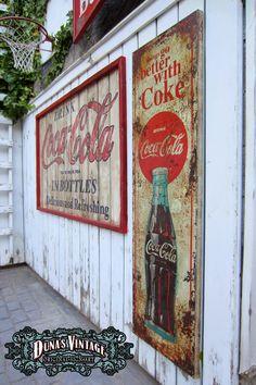 Duna´s Vintage Carteles de Madera, pintados a mano efecto Retro Vintage.