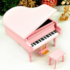 A pink piano? Yes please.