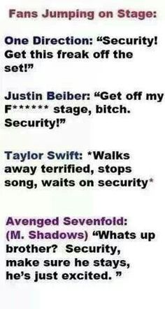 Avenged Sevenfold is so nice. NO WONDER WHY WE LOVE THEM SO MUCH!