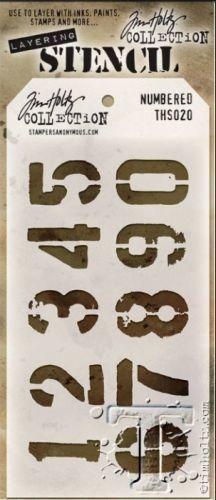 Tim Holtz Layering Stencil Numbered