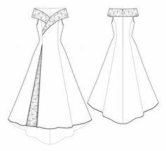 5530 Personalizované svatební šaty Pattern - svatební šaty, svatební šaty, PDF Patterns