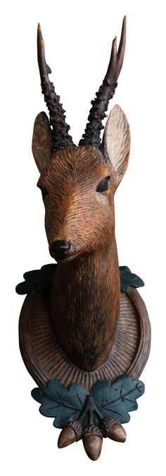 Black Forest carved chamois.