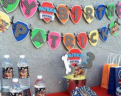 Nick Jr Paw Patrol Inspired Birthday Banner