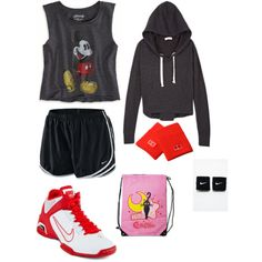 Six Flags Great America Outfit!!! Only I'd wear red converse instead!
