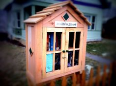 Leah Kliment. Spokane, WA. I have wanted a little library for a long time. I received a beautiful custom library built by my Dad for Christmas. Our library is stocked with kids and adult books. We also have some DVDs and magazines. Please take a book and leave one for someone else. I hope you enjoy my not so little library as much as I do!!!!