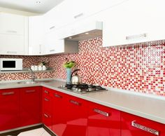 Red kitchen decor red kitchen themes red kitchen themes red and brown kitchen decor red kitchen wall decor modular red kitchen red kitchen decor sets Red Kitchen Decor, Kitchen Design Small, Red Kitchen Walls, Kitchen Remodel, Contemporary Kitchen, Kitchen Tiles Design, Modern Kitchen Cabinet Design, Modern Kitchen Design, Kitchen Design