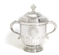 A Queen Anne silver cup and cover, Benjamin Pyne, London, 1702  Sotheby's