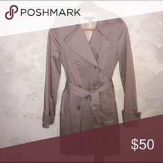 ZARA Lavender Trenchcoat ZARA BASIC:  Women's Size Small, Lavender Trench. Pair with your favorite pair of light wash distressed denim.  Needs to be dry cleaned because it looks like there's some makeup on one of the lapels. ** SMOKE FREE/PET FREE HOME Zara Jackets & Coats Trench Coats