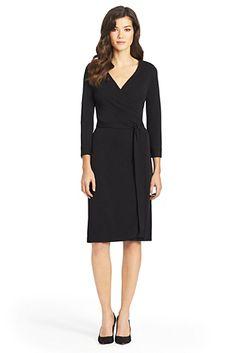New Julian Two Jersey Wrap Dress In Black