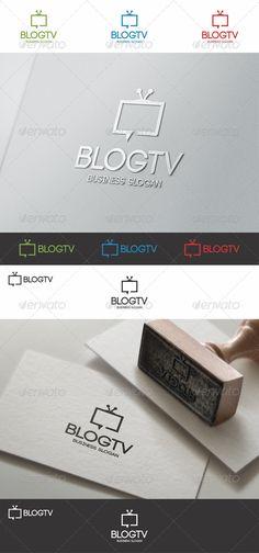 Blog TV Talk Logo suitable for websites, tv blogs, online tv, tv forums, chat rooms, blogs, tv channels, video channels, video blogs, media business, entertainment, movie bloggers, television studio, youtube profiles, applications, etc.