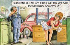 saucy seaside humor postcard