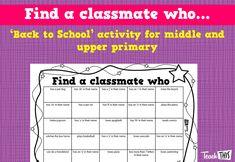 Find a classmate who...