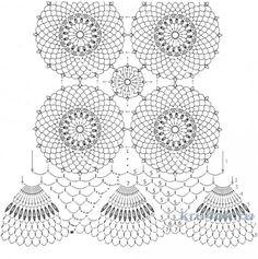 crochet váy.  Tatyana làm việc Bespichanskoy đan và sơ đồ crochet